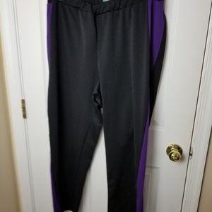 Liz & Me size 1x purple and black pants